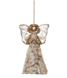Capiz Shell Gold Angel Ornament