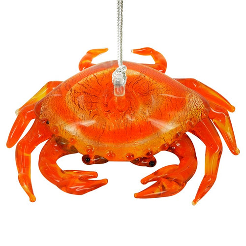 Glass Crab Ornament