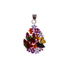 Sterling Silver Resin Bouquet Pear Pendant