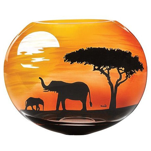 Savannah Elephants Vase
