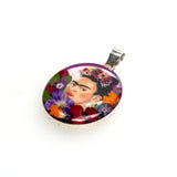 Sterling Silver Frida Kahlo Resin Pendant