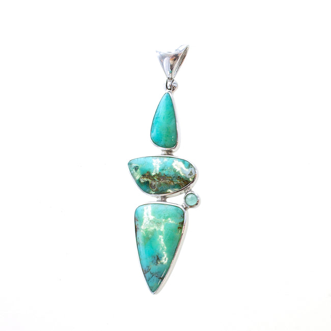 SS Agate Triangles Bezel Pendant