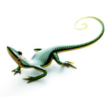 Art Glass Gecko Dichroic Green