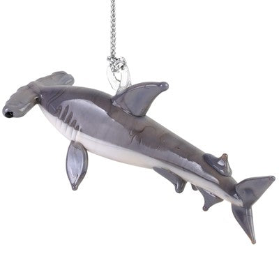 Glass Hammerhead Shark Ornament