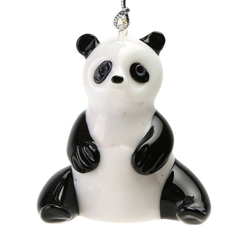 Glass Panda Ornament