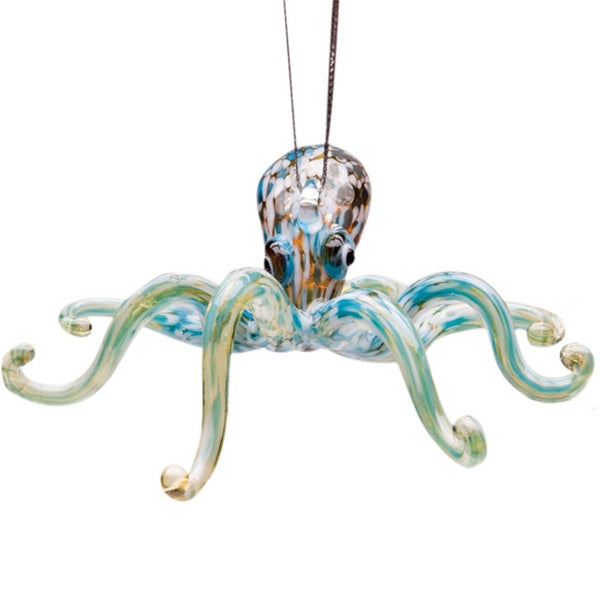 Glass Octopus Ornament