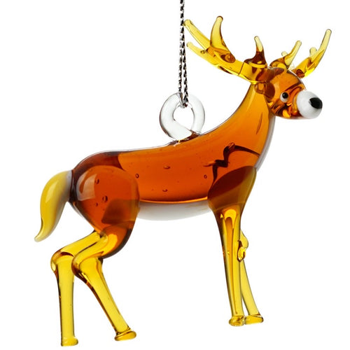 Glass Whitetailed Deer Ornament