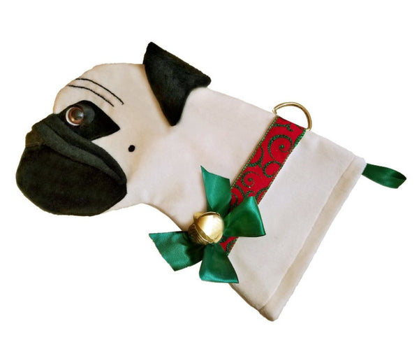 Pug Dog Christmas Stocking
