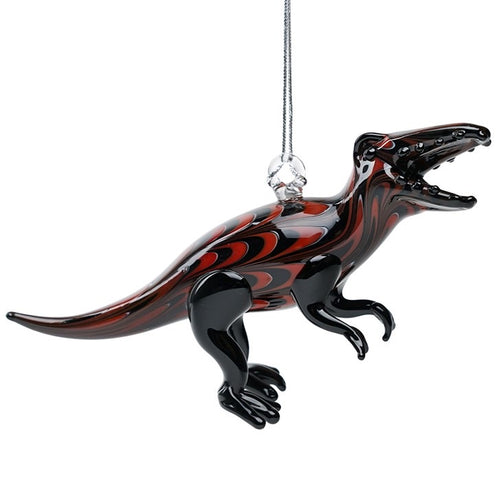 Glass T-Rex Dinosaur Ornament