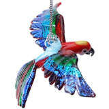 Glass Flying Macaw Ornament
