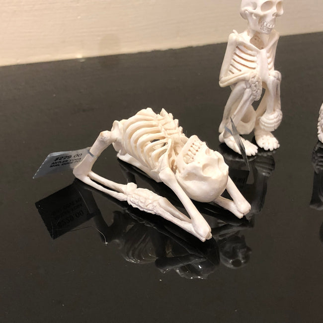 Yoga Skeleton Antler Bone Carvings