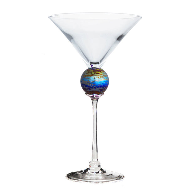 Iridescent Planet Martini Glass