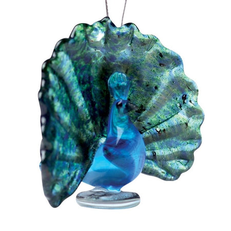 Carved Sodalite and Tourmaline Kingfisher w/ Crystal Fish Sculpture