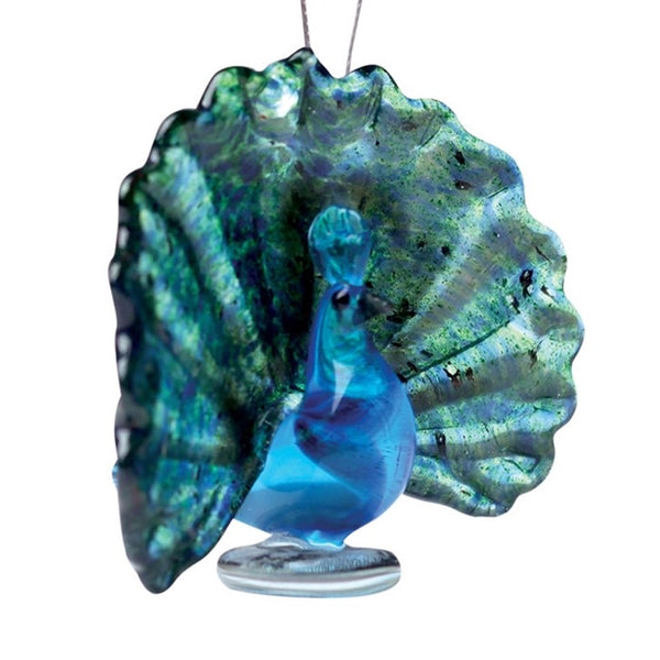Glass Peacock Ornament
