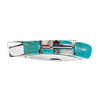 Pocket Knife Turquoise Inlay