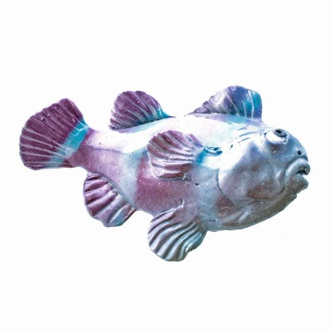 Ceramic Wall Art Iridescent Fish Small