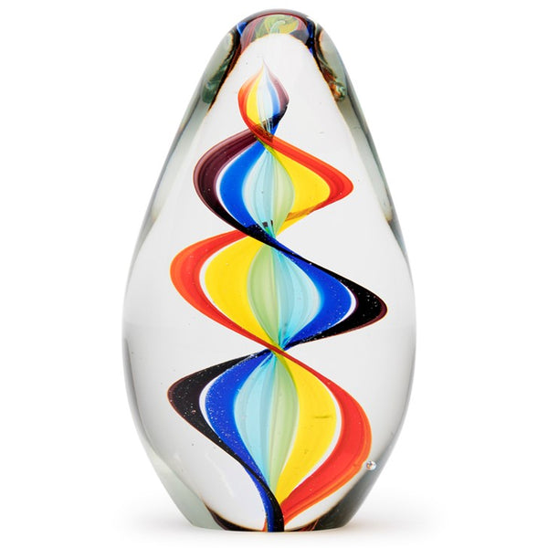 Rainbow Spiral Egg Paperweight