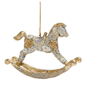 Floral Dream Rocking Horse Ornament
