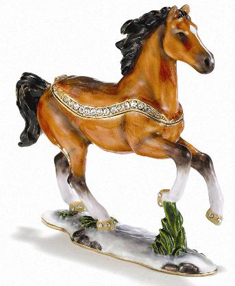Stallion Cloissoné Box