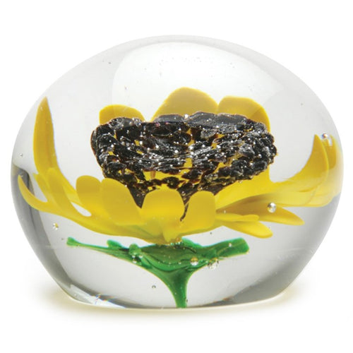 Sunflower Globe Paperweight
