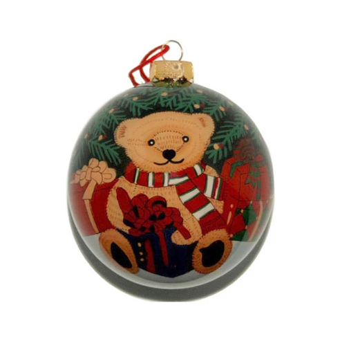 Bears Under the Tree Hand-painted Ornament