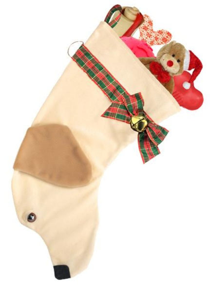 Yellow Lab Christmas Stocking