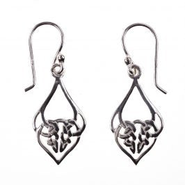 Sterling Silver Celtic Dia Knot Dangle Earrings