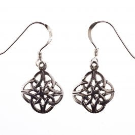 Sterling Silver Celtic 4 Circle Dangle Earrings