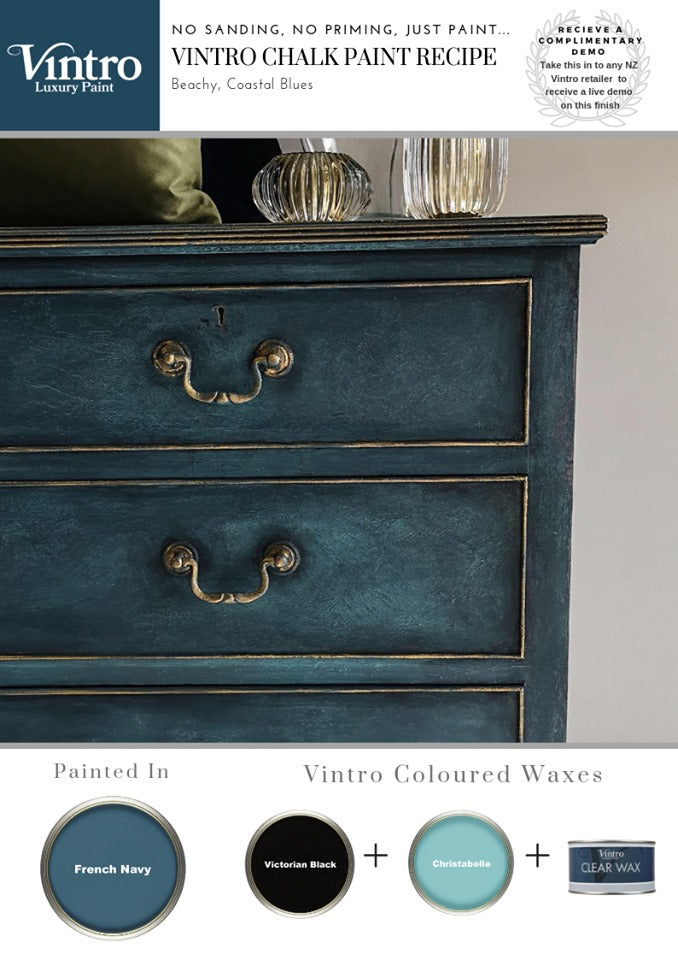How to Create a Beachy Moody Blues Chalk Paint Recipe