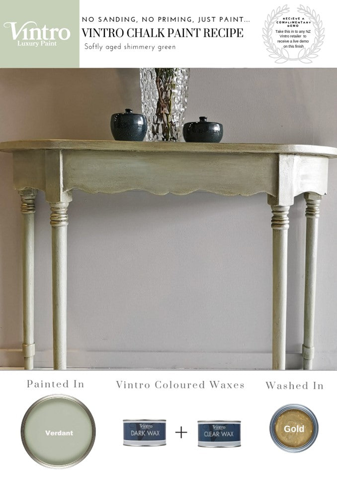 How to Create a Softly aged shimmery Green Paint Recipe