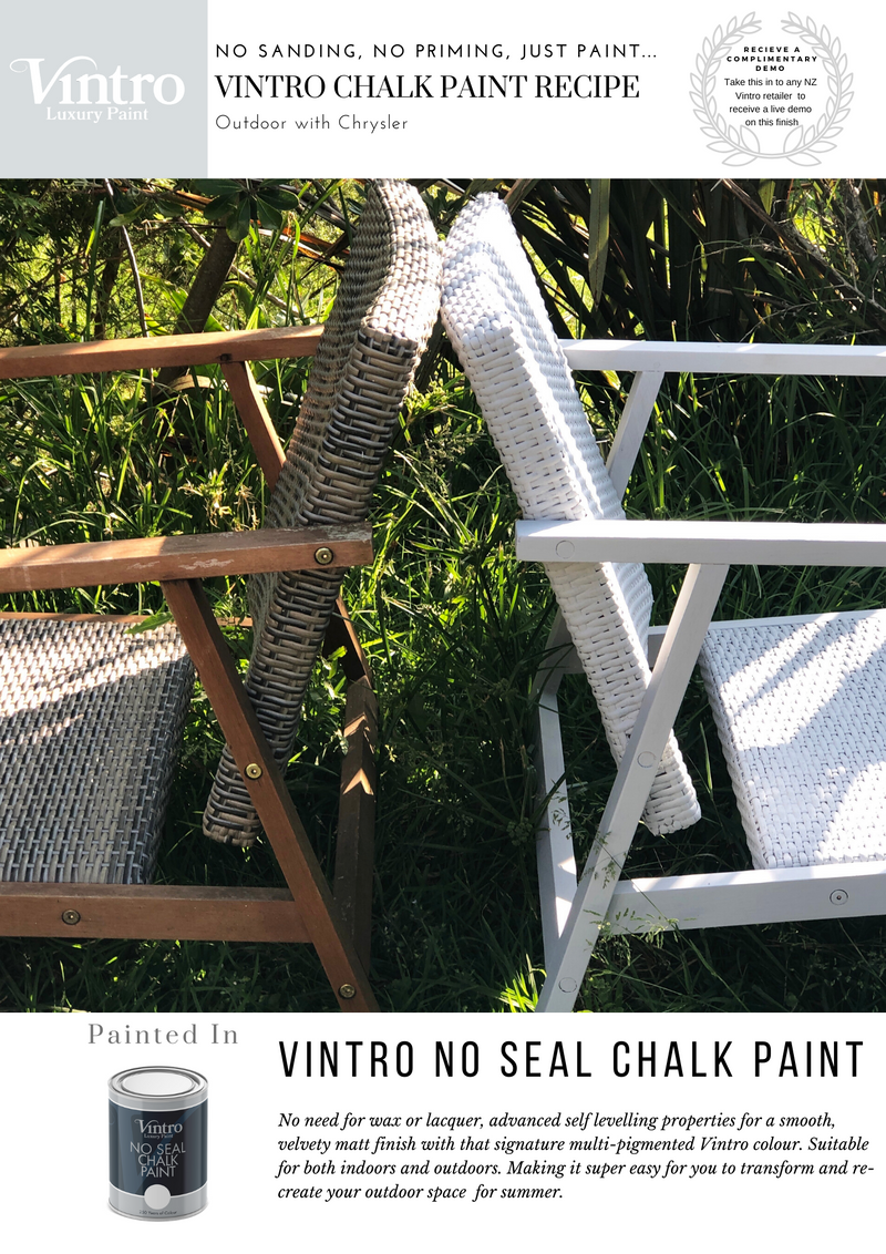 Outdoor in Chrysler with Vintro No Seal Chalk Paint