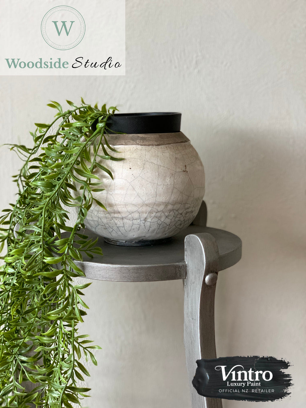 Pewter Plant Stand