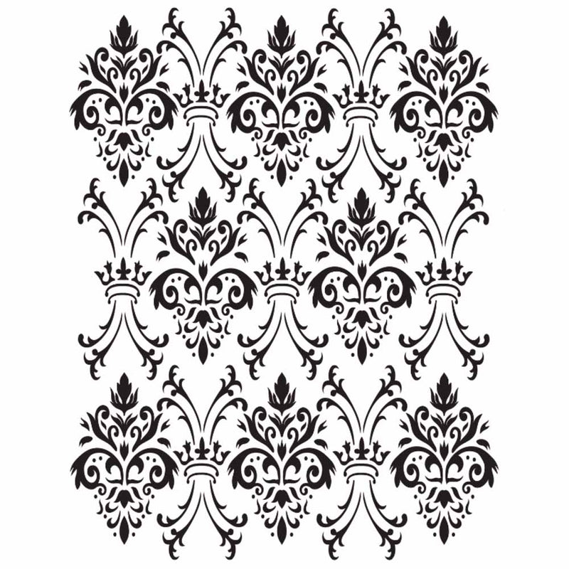 Belles & Whistles Stencil - Royal Damask