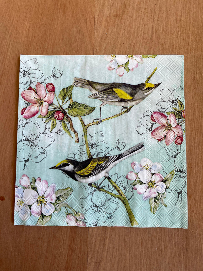 Napkin - Blue Birds on Branch