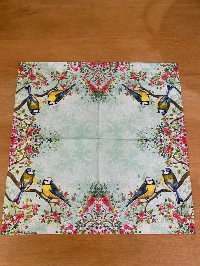 Birds in a Tree  Napkin for Decoupage