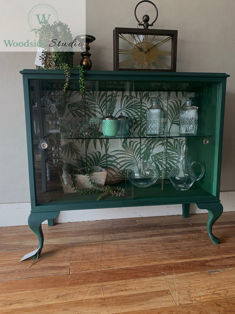 Deep Green China Cabinet