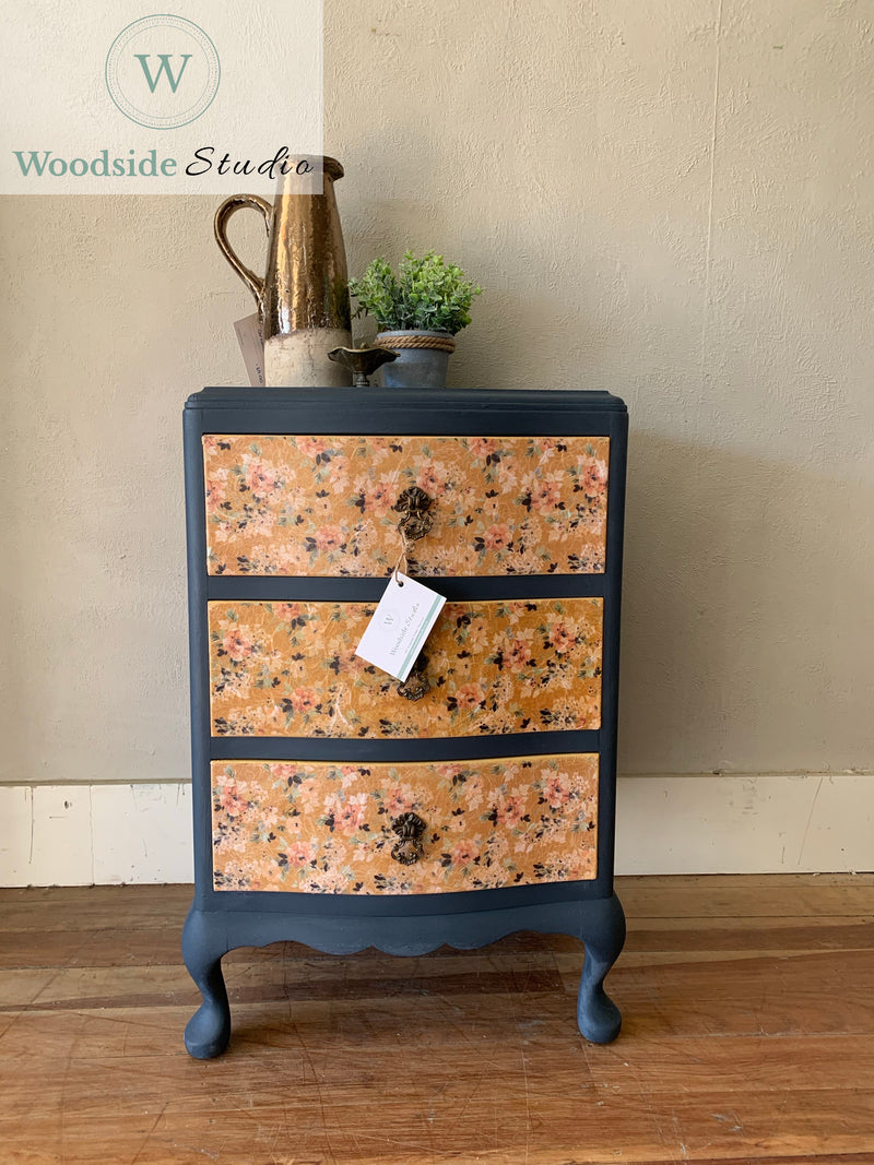 Decoupaged Bedside Table