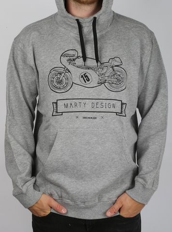 Sweater with Hood - old time bike
