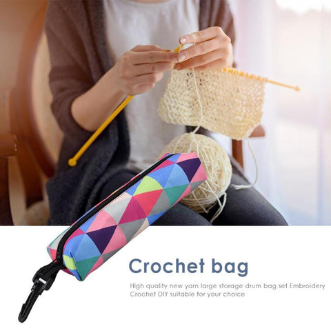 Portable Hooks Thread Crochet Yarn Storage Bag