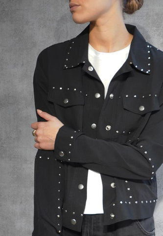 SHEEN JACKET BLACK
