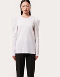 t-shirt with poplin sleeves