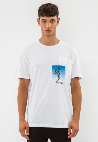 CHANCE T-SHIRT WHITE & BLUE