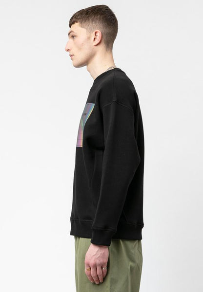 SUDADERA PLAIN CREW BLACK