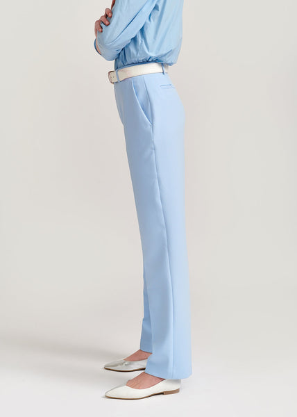 SKY BLUE STRAIGHT-LEG PANTS