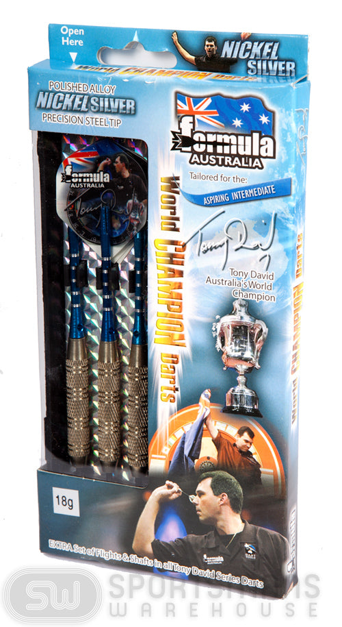 Formula Tony David Nickel Silver 18g Boxed Darts
