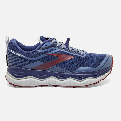 Brooks Caldera 4 D Mens Trail Running Shoe - Deep Cobalt/Blue/Red_110328 1D 445
