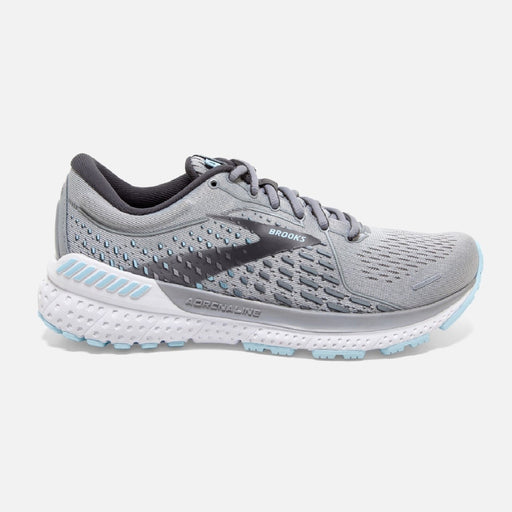 Brooks Adrenaline GTS 21 D Womens Running Shoe - Oyster/Alloy/Light Blue_120329 1D 061