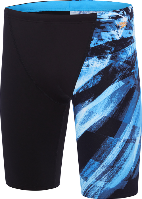 Speedo Mens Freeze Frame Jammer - Black/Blue_12Y71 7145