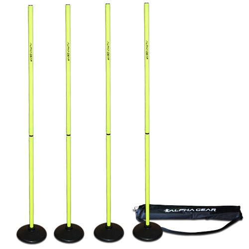 Alpha Gear Plastic Turf Base Speed Poles - Yellow_4PKPOLETURF