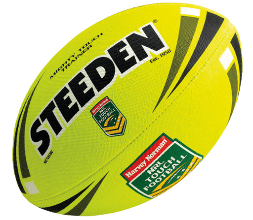 16854-JNR-YEL_Steeden NRL Mighty Touch Jnr Football - Yellow